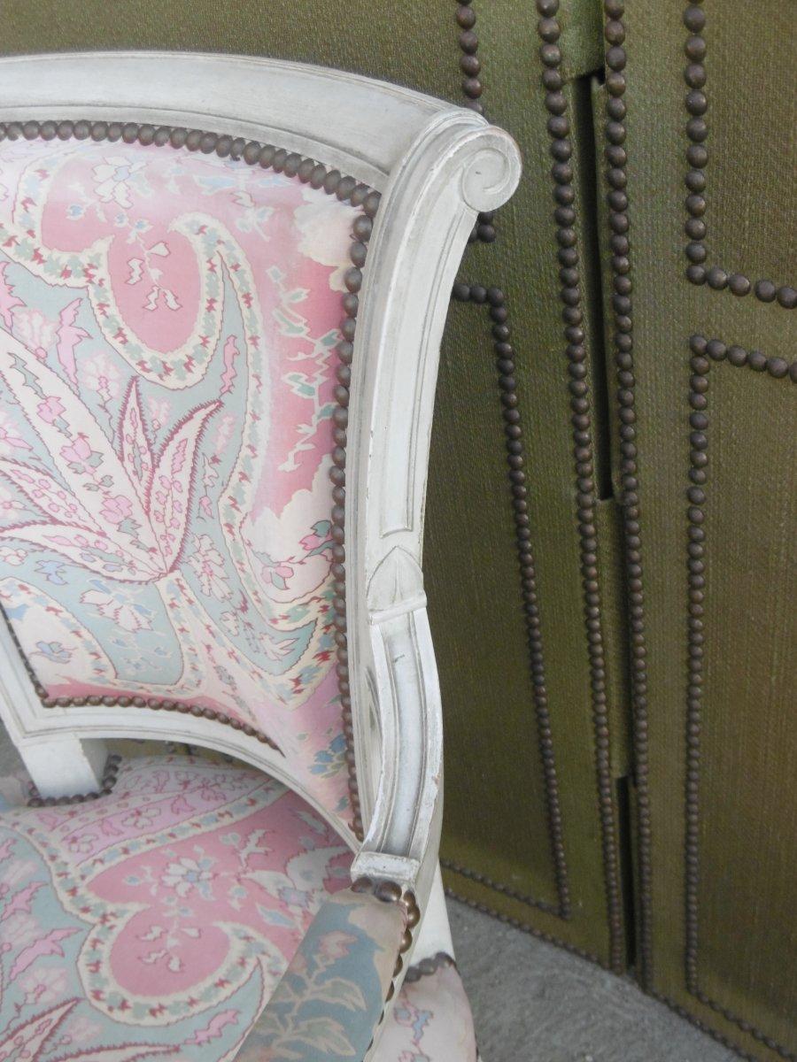Paire De Fauteuils Louis XVI-photo-1