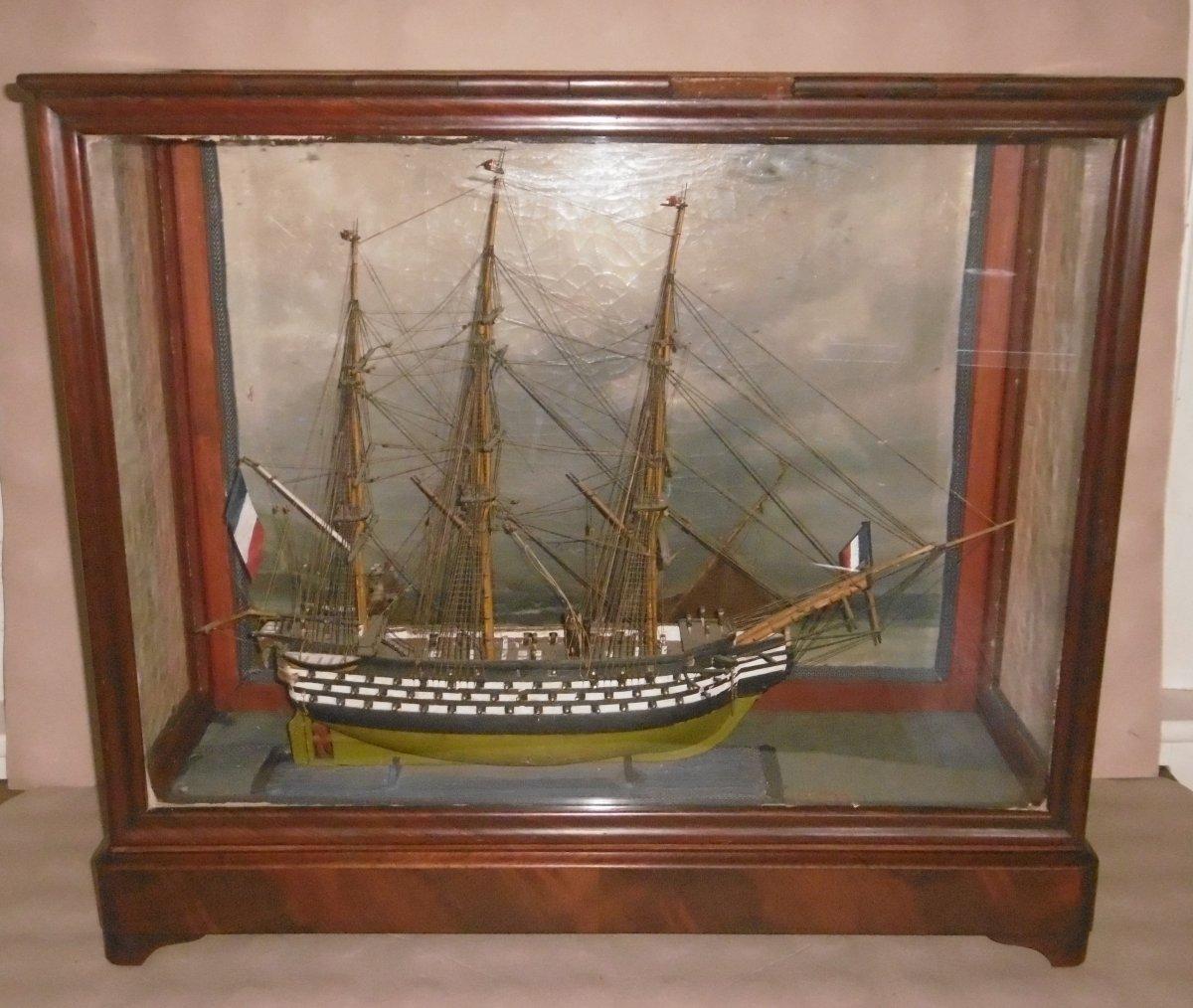 """Maquette du bateau """"Le Conquérant"""""""