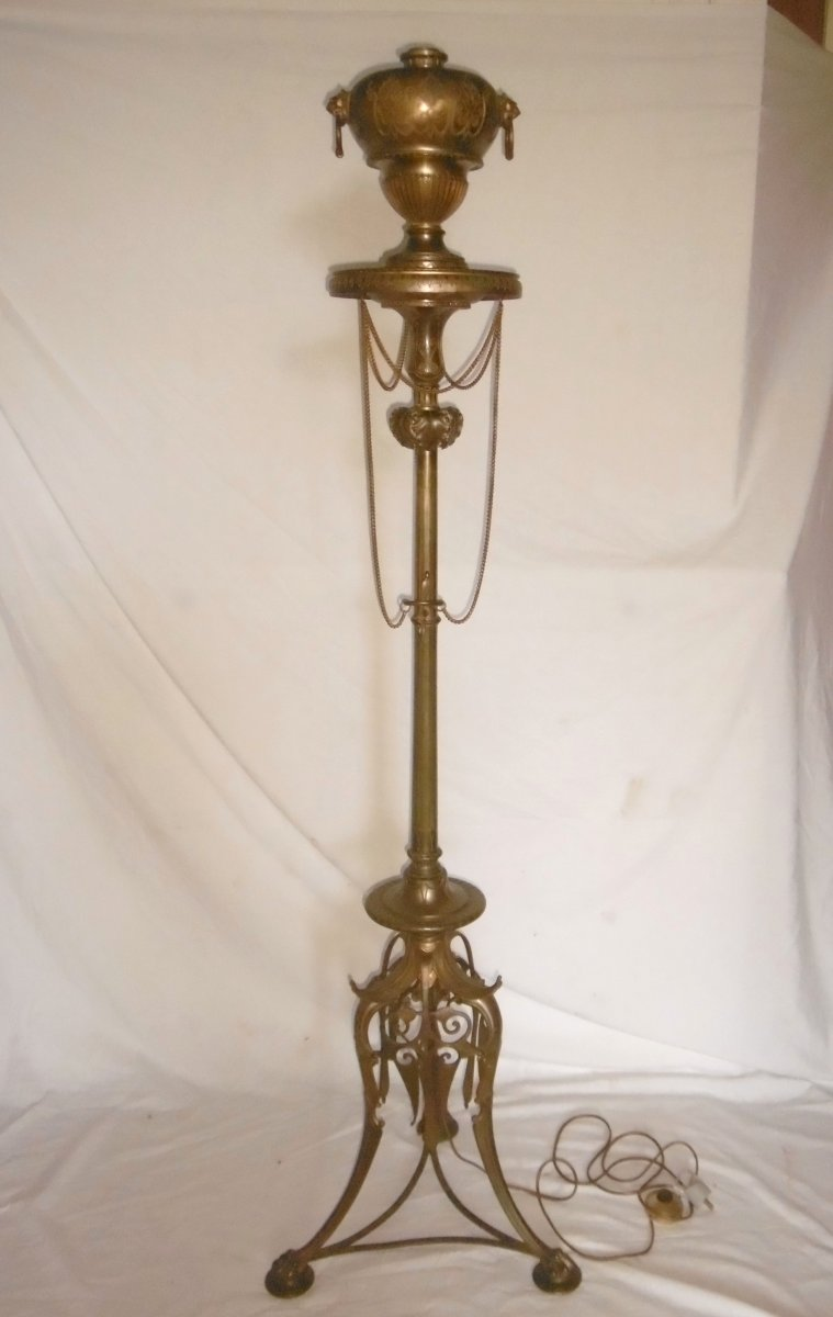 Lampadaire En Bronze Napoléon III