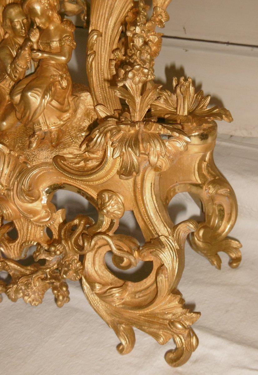 Pendule Bronze Rocaille-photo-4