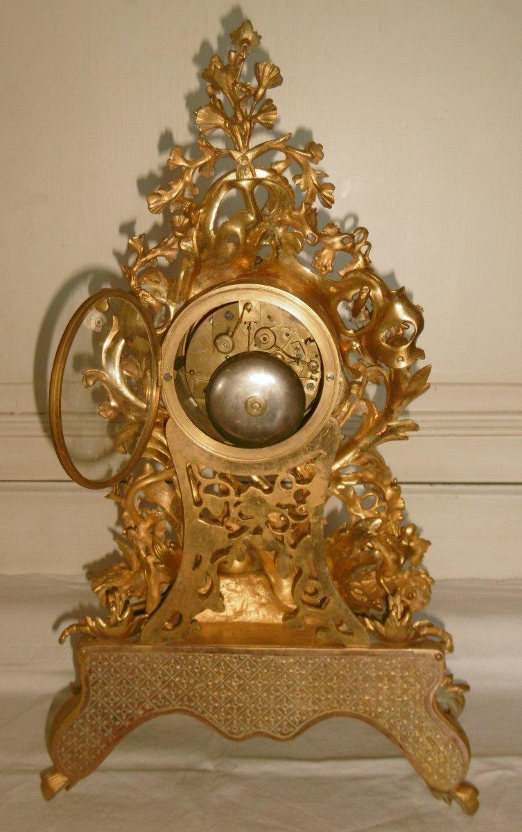 Pendule Bronze Rocaille-photo-6