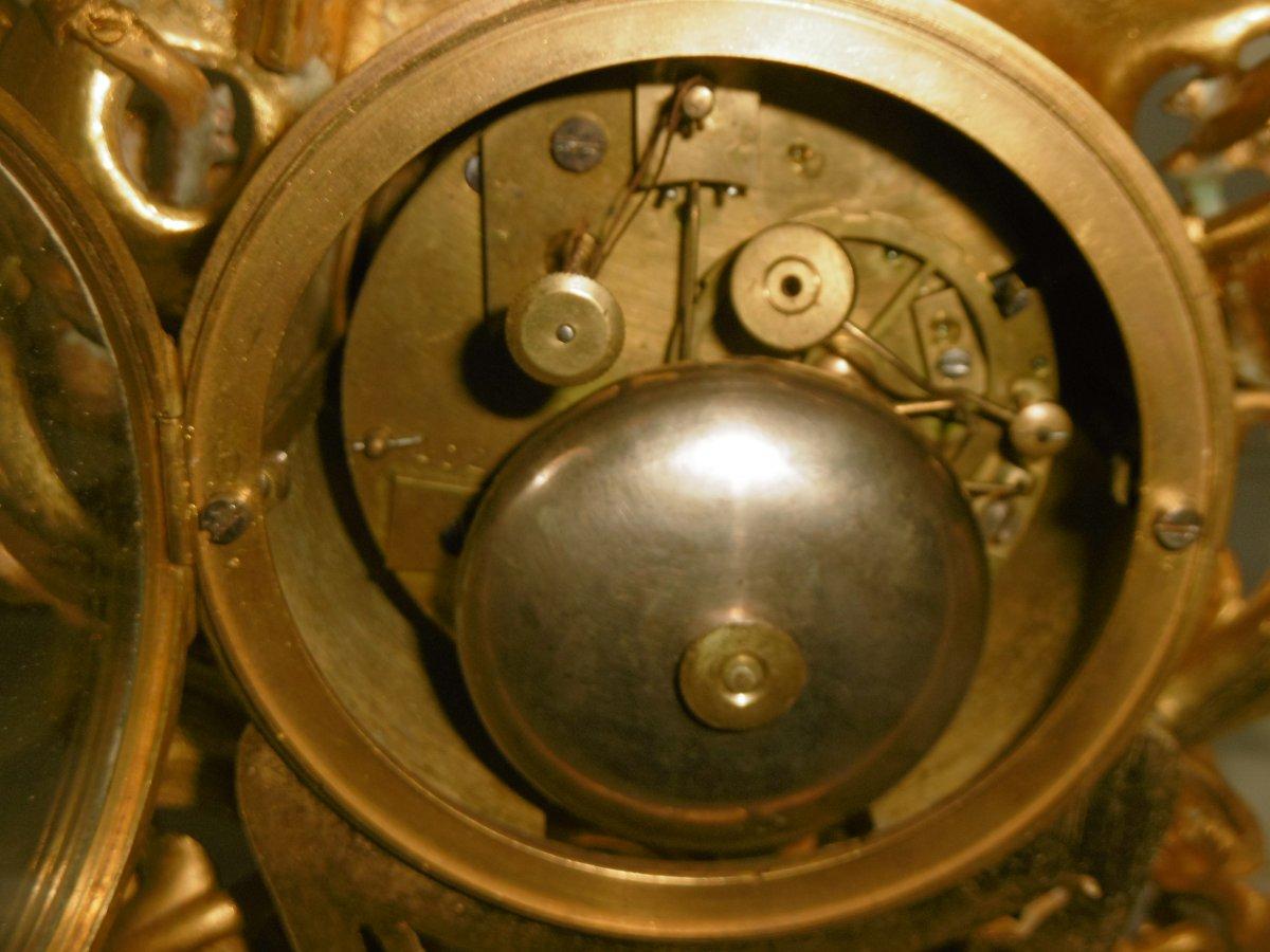 Pendule Bronze Rocaille-photo-7