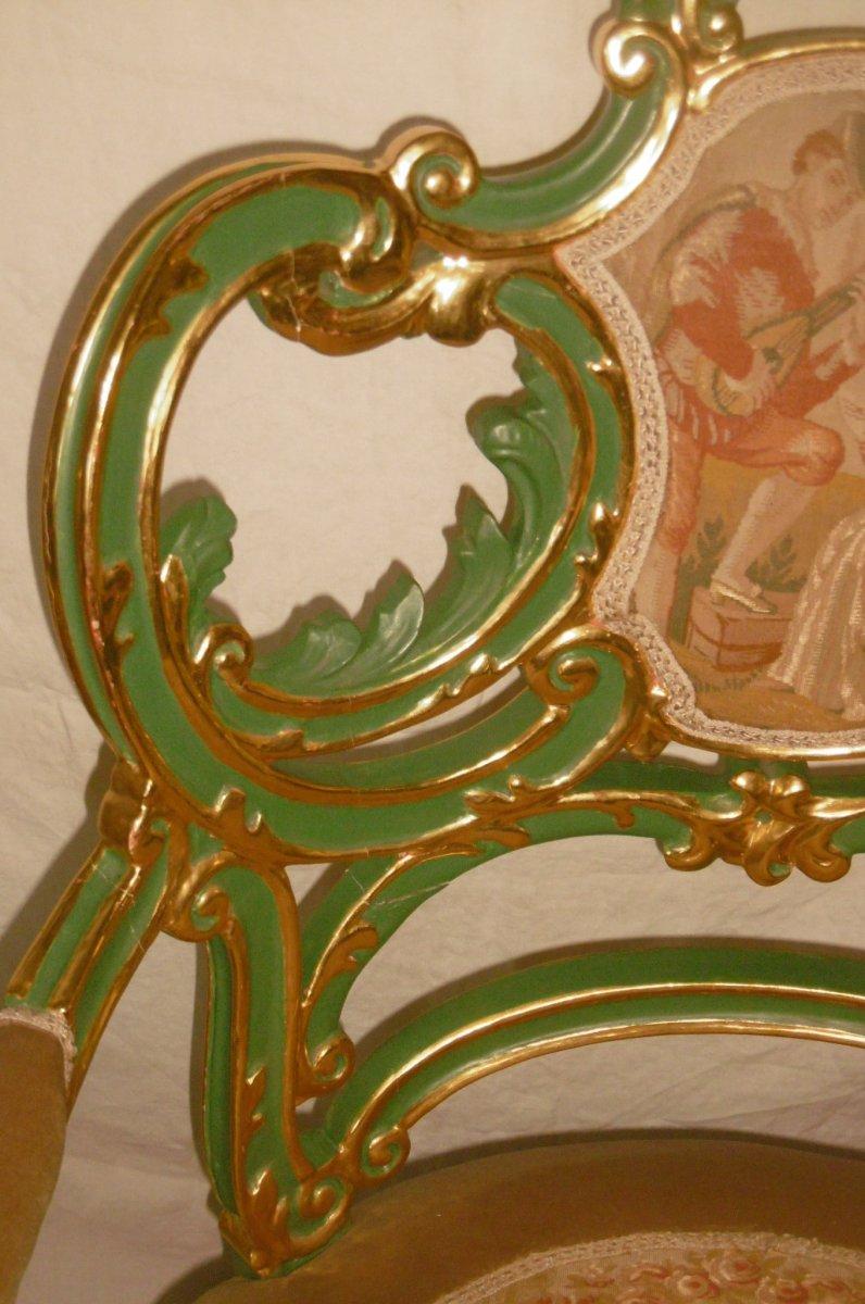 Pair Of Venetian Armchairs-photo-3
