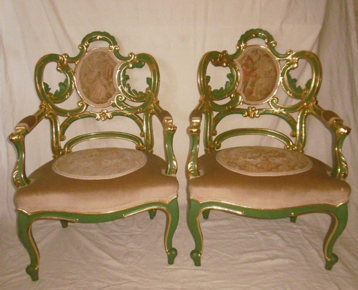 Pair Of Venetian Armchairs