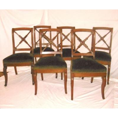 Suite De Six Chaises Restauration