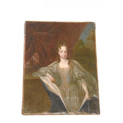 Netscher Caspar Portrait De La Fille De Louis XIV