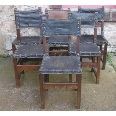 Series Of Six High Period Chairs