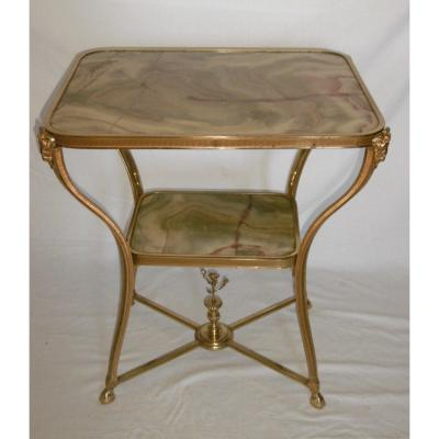 Pedestal Table In Gilt Bronze