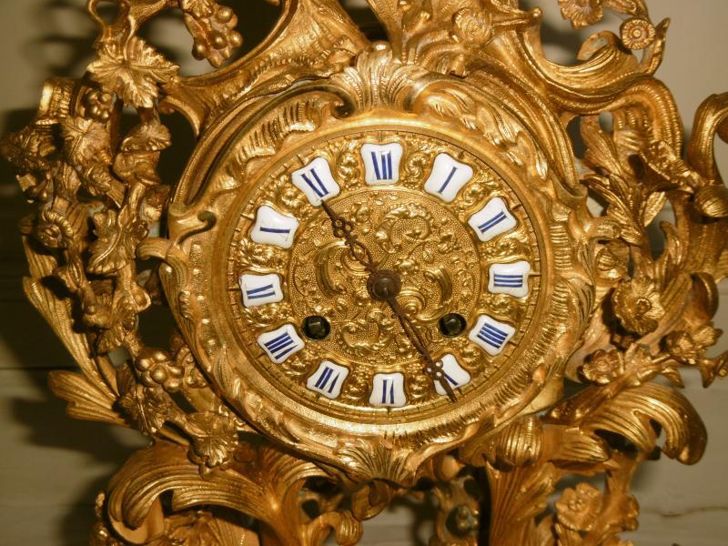 Pendule Bronze Rocaille-photo-2