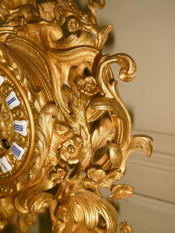 Pendule Bronze Rocaille-photo-3