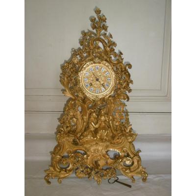 Pendule Bronze Rocaille