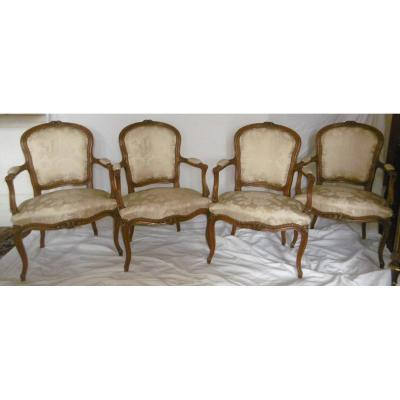 Suite Of Four Louis XV Armchairs
