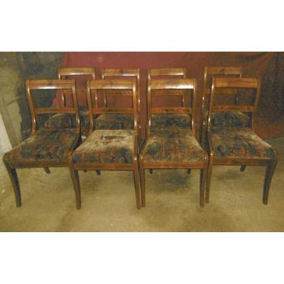 Suite De Huit Chaises Restauration