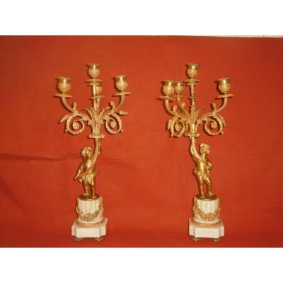 Pair Of 18th Candelabra