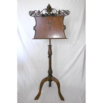 1900 Mahogany Music Stand