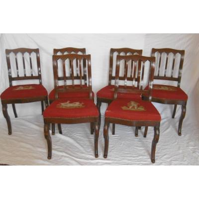 Série de six chaises Restauration