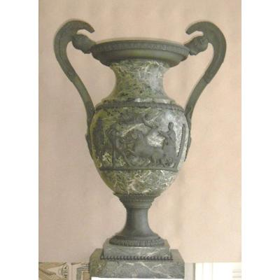 Important Marble And Bronze Urn