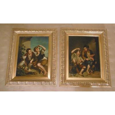 "Pair Of ""murillo"" Paintings"