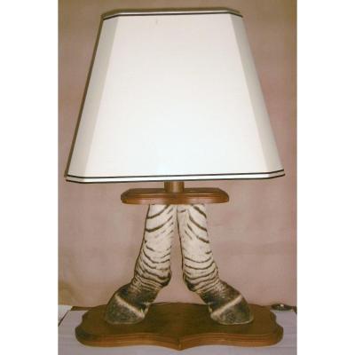 """Lampe """"pieds de zèbre"""""""