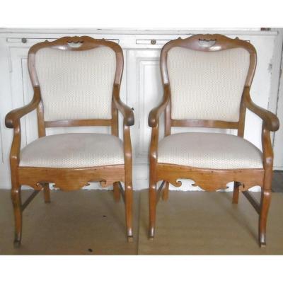 Paire de fauteuils 19ème