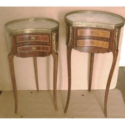 Two Tripod Living Room Tables