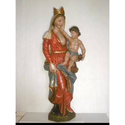 Vierge à l'enfant à la couronne