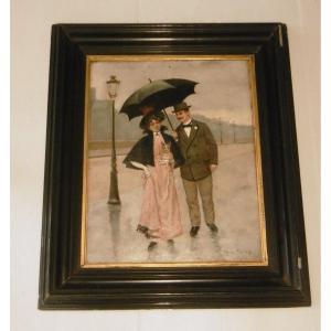 Henri Raignau peinture sur panneau