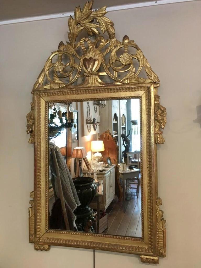 Miroir Provençal d'époque Louis XVI , 18 ème siècle