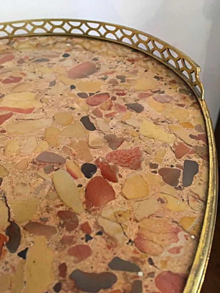 Table Chevet, Commode Tambour XVIIIème Siècle, Acajou