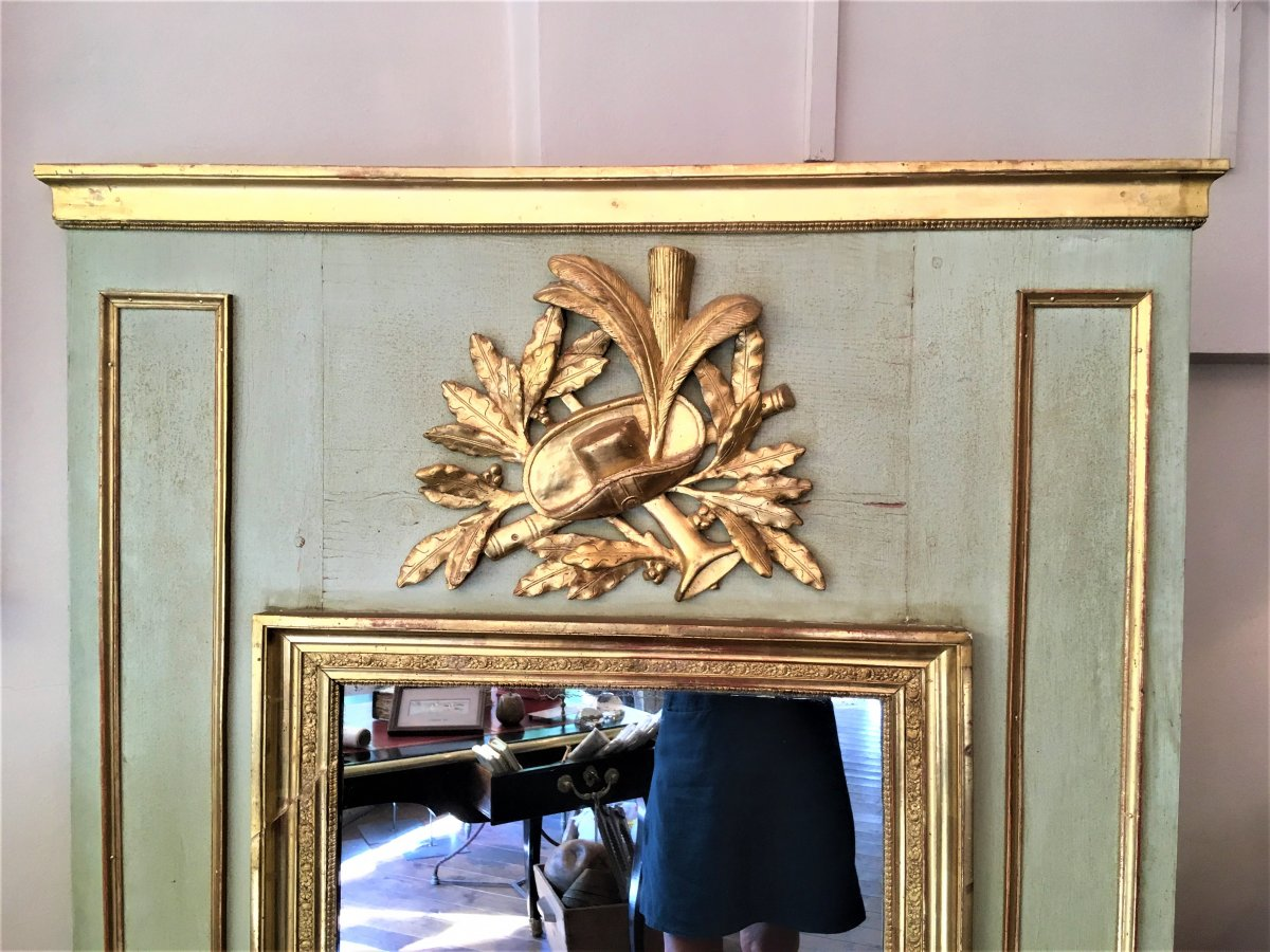 Trumeau Provençal De Style Directoire XIX ème Siècle