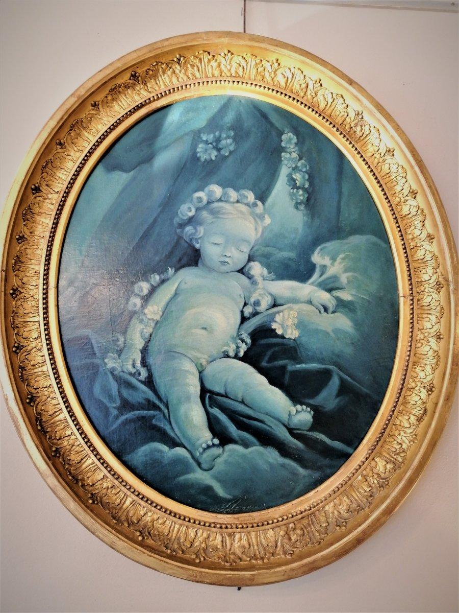 Oil On Canvas XIX Century