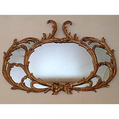 Golden Wood Pair Of Mirrors 18th Century
