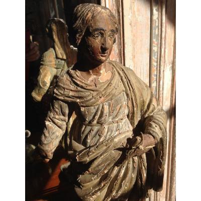 Vierge En Bois Sculpté XVIII ème