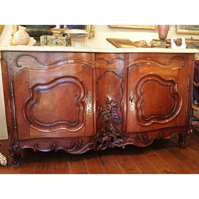 Buffet Of Provençal Hunting Louis XV Walnut