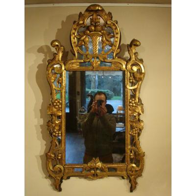 "Provencal Gold Wood Mirror Mirror Says ""beaucaire"""