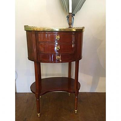 Bedside Table, Chest Of Drawers XVIIIth Century, Mahogany