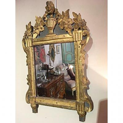 Louis XVI Mirror Golden Wood 18th Century