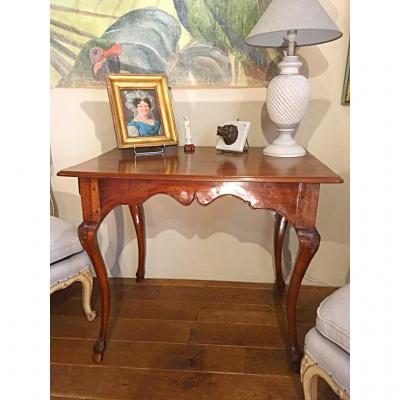 Table Bureau Ou De Milieu d'époque Louis XV En Noyer
