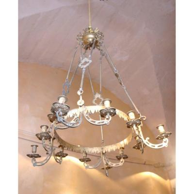 Large Chandelier With 12 Lights