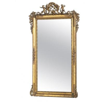 French Empire Wall Mirror Of The XIXth Century 226cm X 133cm