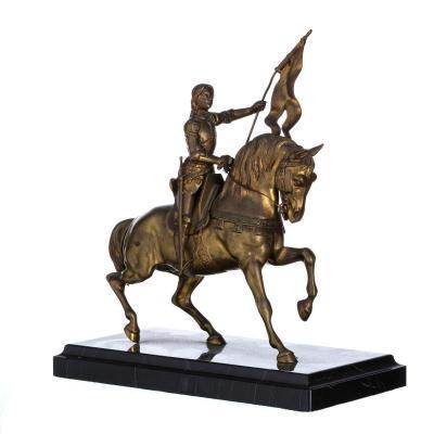 """Sculpture Française """" Jeanne d'Arc """" Bronze XIXeme Siècle"""