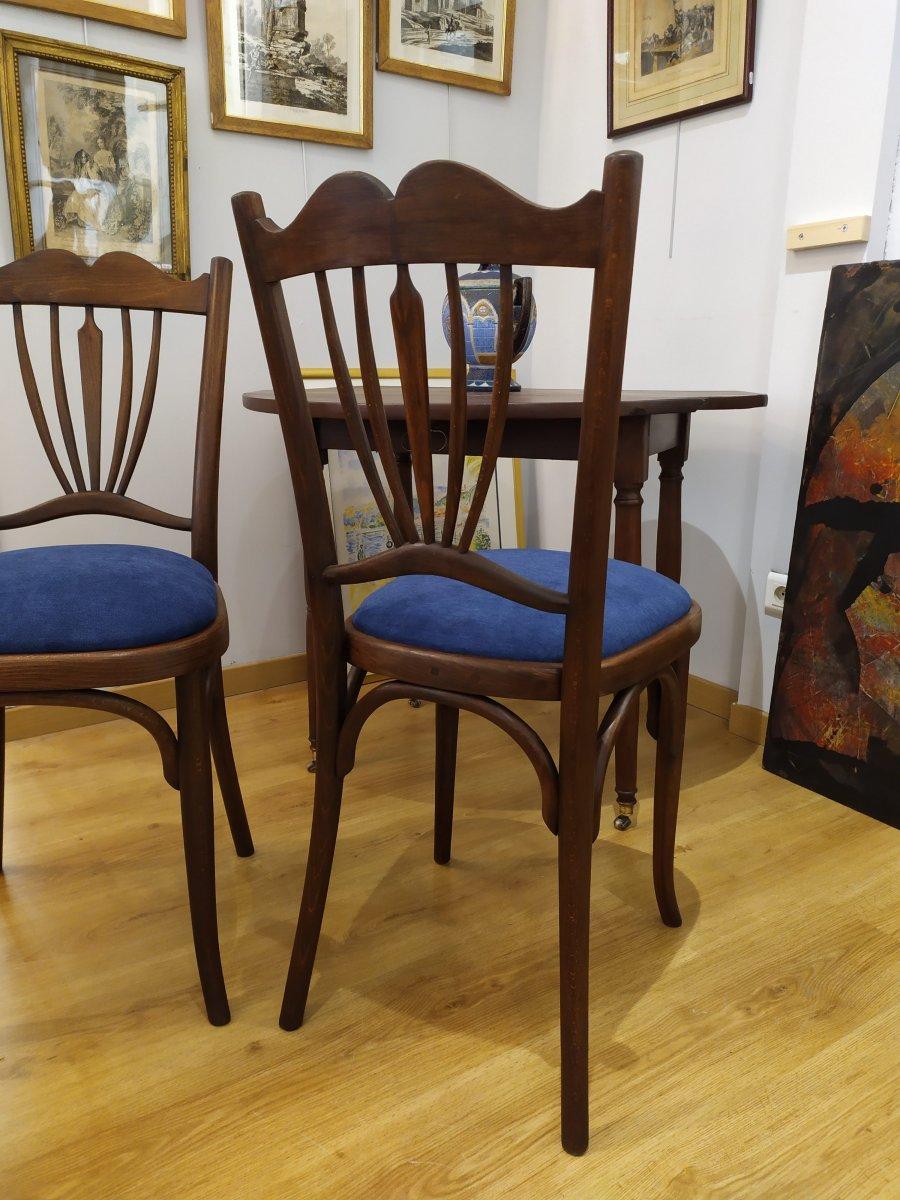 """Paire de chaises , dites """"bistrot"""", debut XXÈME -photo-2"""