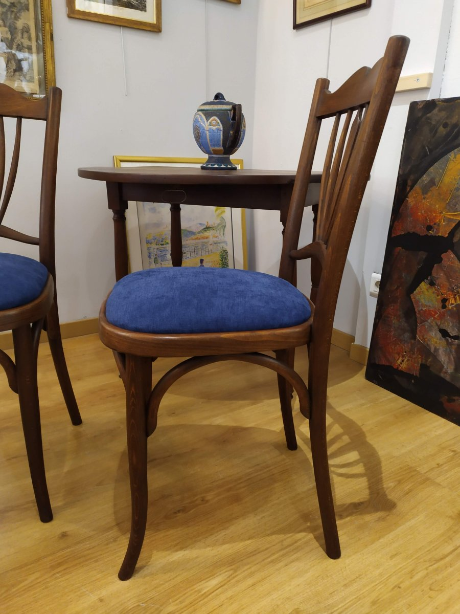 """Paire de chaises , dites """"bistrot"""", debut XXÈME -photo-3"""