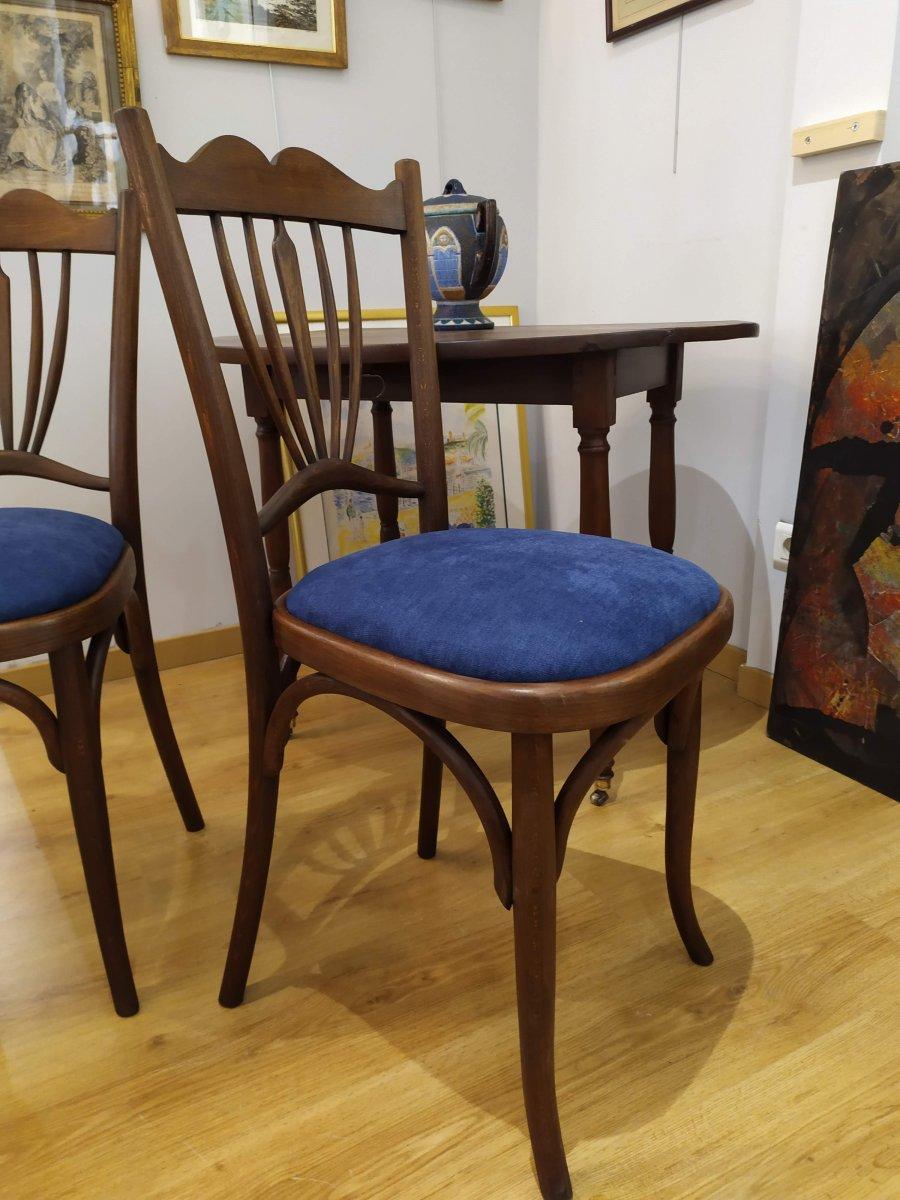 """Paire de chaises , dites """"bistrot"""", debut XXÈME -photo-4"""
