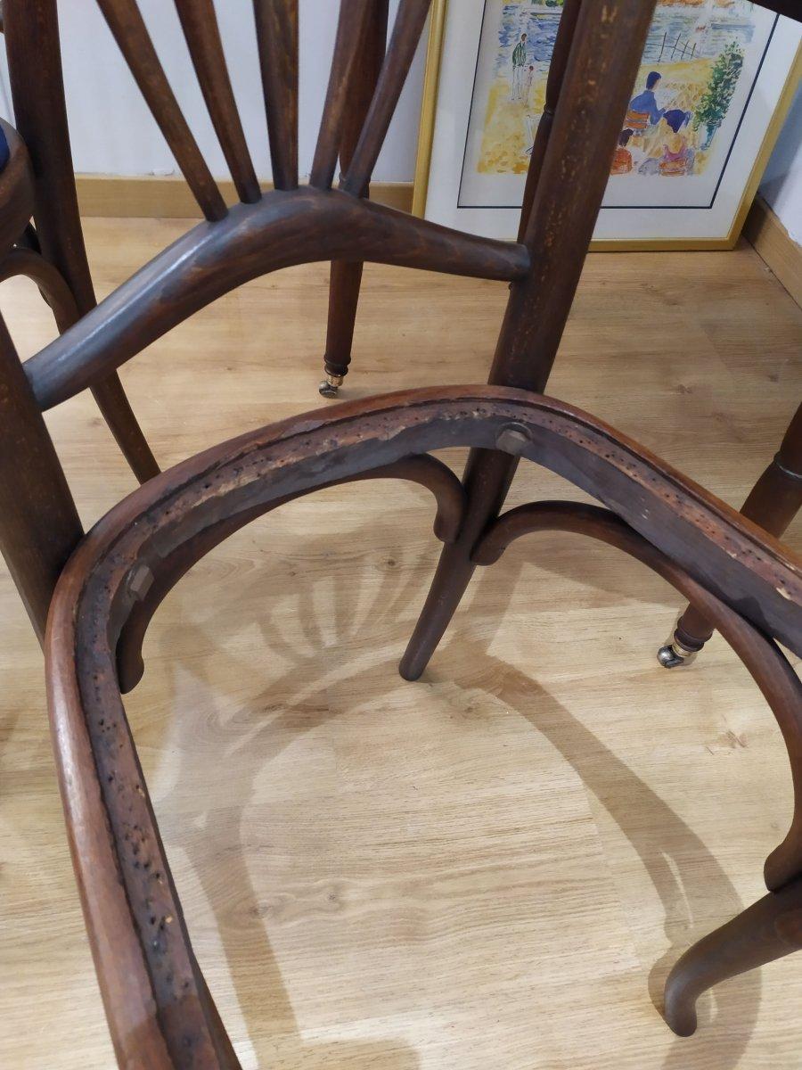 """Paire de chaises , dites """"bistrot"""", debut XXÈME -photo-1"""