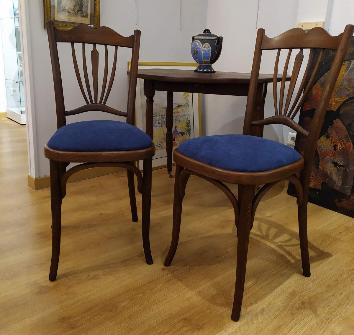 """Paire de chaises , dites """"bistrot"""", debut XXÈME"""