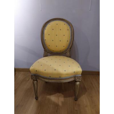 Louis XVI Chair, Médaillon Back