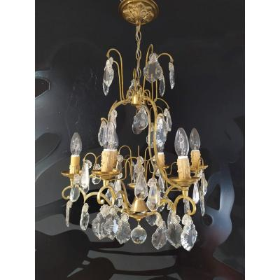 Small 6-light Cage Chandelier