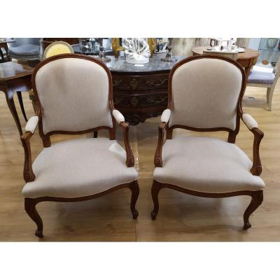 Pair Of Armchairs, Transition Style