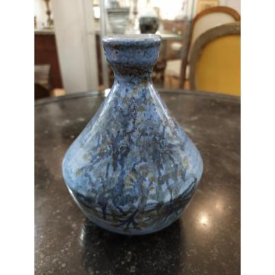 Small Ceramic Vase, Signed Dominique Baudart, 1960s